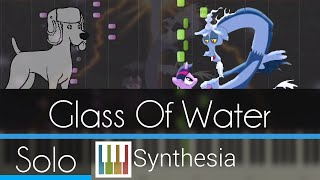 Glass of Water - |SOLO PIANO TUTORIAL w/LYRICS| -- Synthesia HD