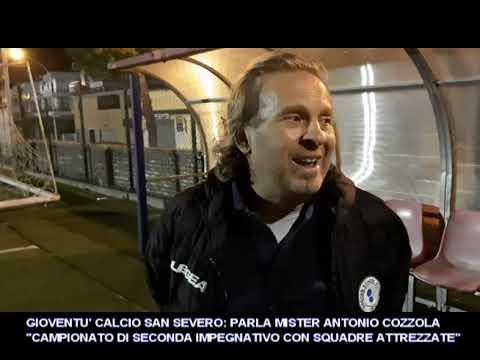 VIDEO: GIOVENTU' SAN SEVERO MISTER COZZOLA SUL CAMPIONATO DI SECONDA CATEGORIA