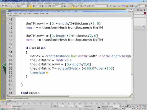 MaxScript: Scripting a Plug-in Part 2a