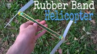 How to make a Rubber Band powered Helicopter that Flies.(diy Helicopter toy)