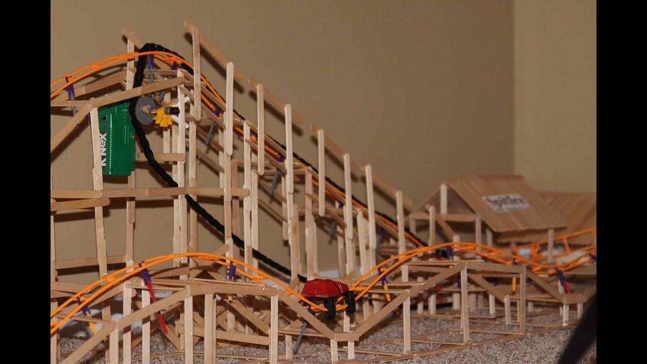 Real Wooden K Nex Roller Coaster Spitfire Youtube
