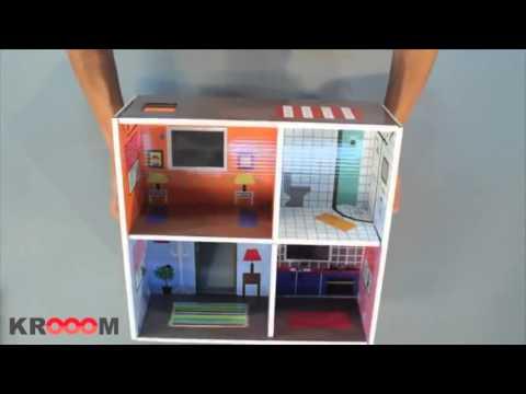 Juguete educativo casa de mu ecas de cart n murielle youtube - Como hacer una maqueta de una casa ...