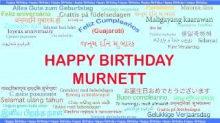 Murnett   Languages Idiomas - Happy Birthday