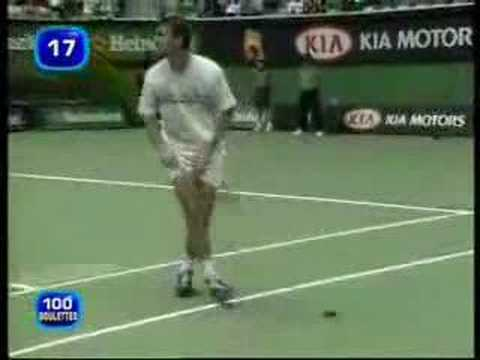 One in a million Tennis Accident