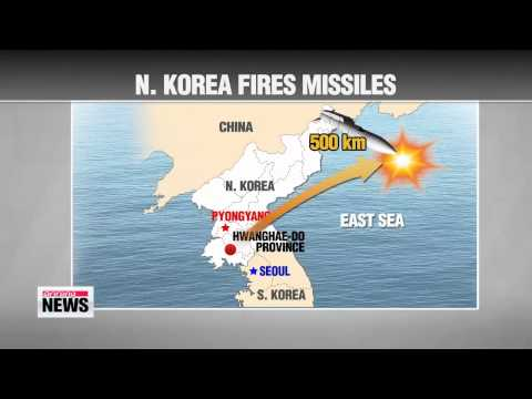 N. Korea fires more missiles into East Sea