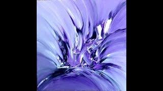 purple diamond, abstract painting, Acrylic, abstrakte Malerei mit Acryl