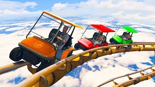 GOLF CART ROLLERCOASTER! (GTA 5 Funny Moments)