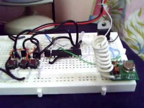 RF 433MHZ transmitter and receiver project using PC