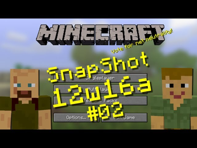 Minecraft Snapshots - 12w16a Pre-Release 1.2.5 Part 02 Bonus Chest Demo & Single-Player Cheats HD