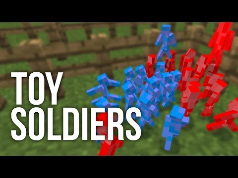 Red vs Blue | Toy Soldiers in Minecraft