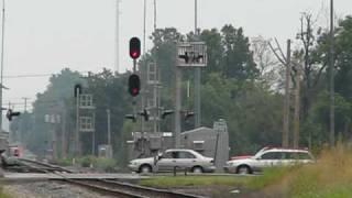 Flashing red signal