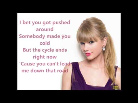 Taylor Swift - Mean (Lyrics Video)
