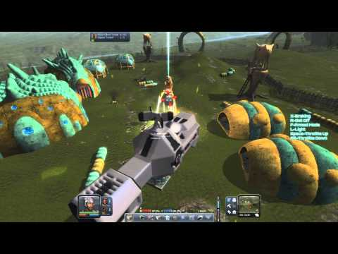 Planet Explorers 0.62 Alpha - GTC Fenris attacking Alien bases