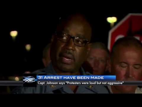 Protesters Clash with Police in Ferguson, Missouri