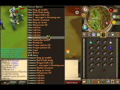 runescape-5th pk video iSTAB KiDz/whip/dds/edge/bounty hunter/range tank pking
