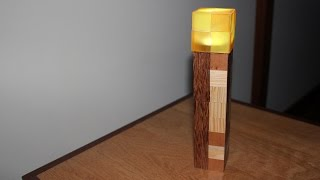 How to Build  Minecraft Toys in Real Wood - Minecraft Torch
