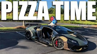 Delivering Pizza In A Lamborghini (WITH NO DOORS)