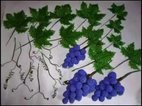 МК виноград из бисера.