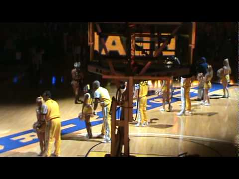 WVU basketball pre game 2010 louisville
