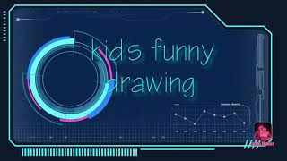 Kid's funny drawing
