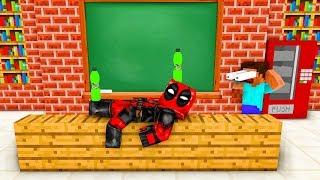 Monster School : EPIC BOTTLE FLIP - DEADPOOL vs WOLVERINE CHALLENGE - Minecraft Animation