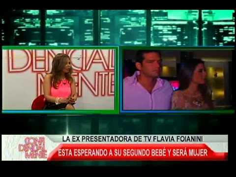 LA EX PRESENTADORA DE TV FLAVIA FOIANINI ESTA ESPERANDO SU SEGUNDO BEBE
