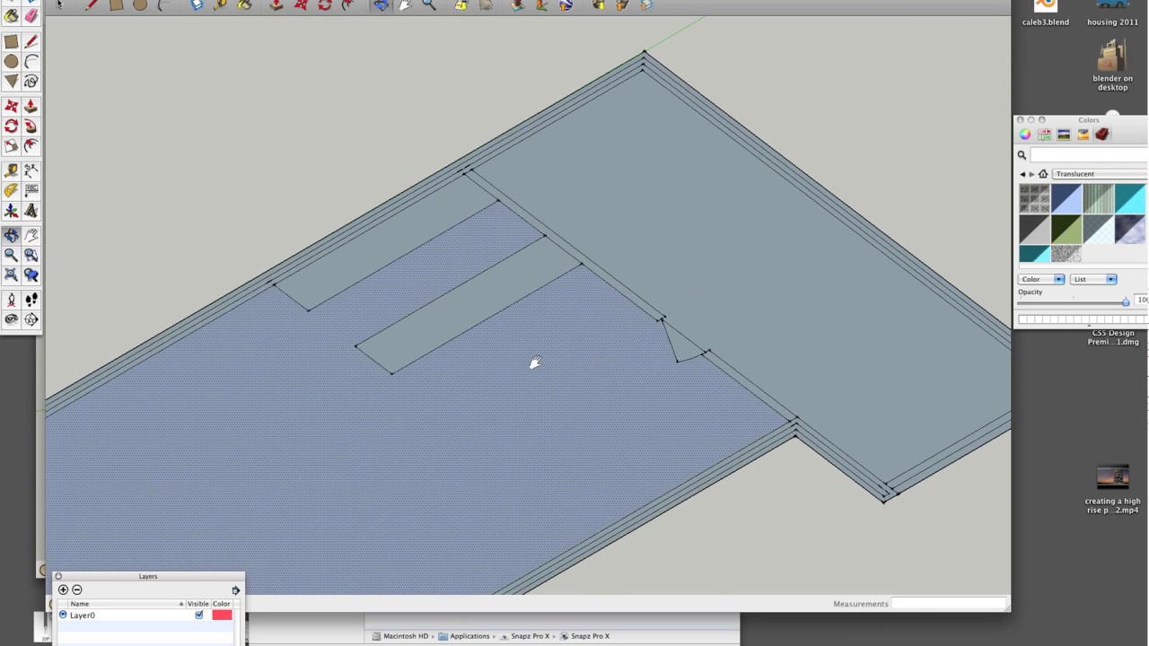 using sketchup to create a floor plan pt1.mov - YouTube