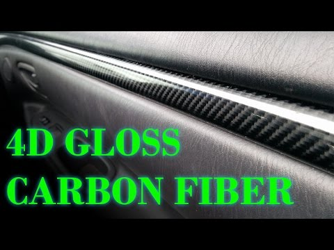 4D Gloss Carbon Fiber Dash Trim Vinyl Wrap