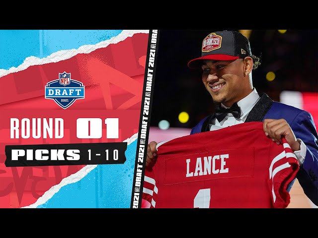 Pick 1-10 3 Quarterbacks, The Highest Drafted TE, amp A Late Trade!  2021 NFL Draft