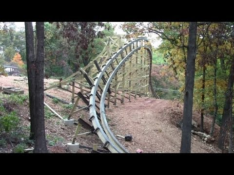 Outlaw Run construction tour HD Silver Dollar City (new coaster for 2013)