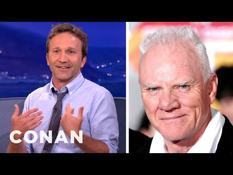 Breckin Meyer & Malcolm McDowell Are In A Prank War