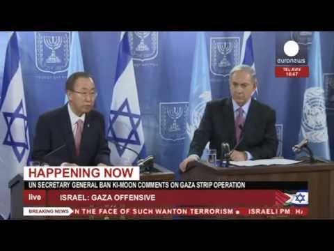 Netanyahou et Ban Ki-Moon s'expriment sur l'offensive d'Israël à Gaza - direct enregistré