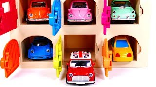Learn Colors with Vehicles an Garages | Yippee Toys Video