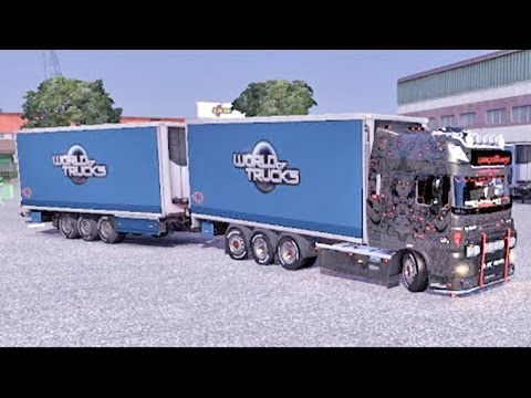ETS2 DAF + BDF Tandem Trailer +Download (Euro Truck Simulator 2)