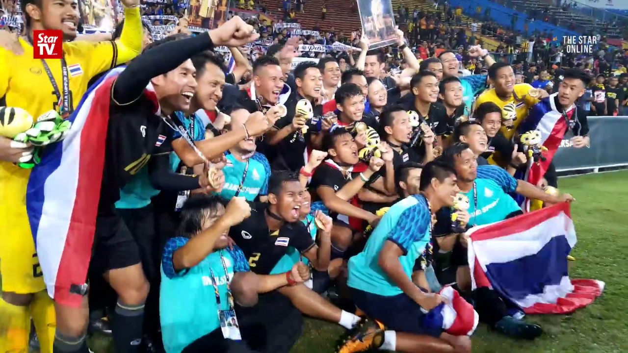 Thailand thank their supporters for win in SEA Games football final