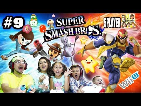 FGTEEV Family Battle Royale is BACK! (Super Smash Bros Part 9 Face Cam Wii U Gameplay)