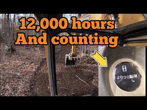 12,000 hour john deere 120 building road - youtube yacht series