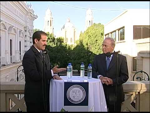 21-10-2009 Guillermo Padrés en conferencia de prensa acompañado del alcalde Javier Gándara