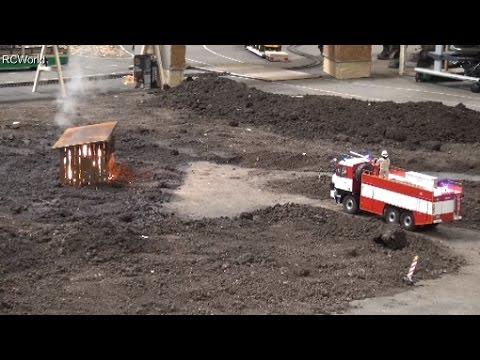 RC House Fire Truck Tatra 815 TLF 32 Feuerwehr Brand  ♦ Erlebniswelt Modellbau Erfurt 2016