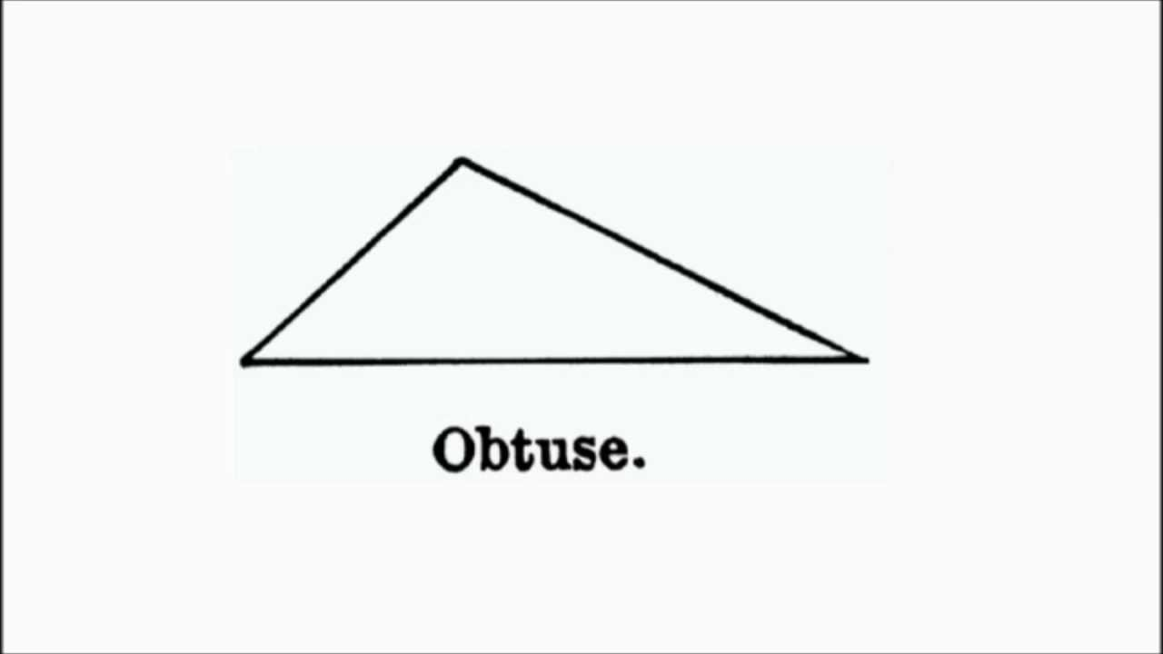 Ah  The Obtuse Triangle