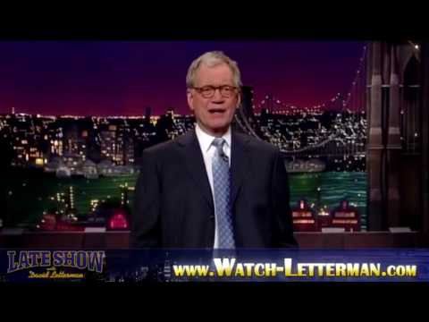 Late Show David Letterman - 1/21/2010 Part 1 - Harrison Ford, Blind Boys of Alabama with Lou Reed