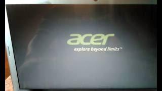 Cambiar configuración de la BIOS de una ACER ASPIRE V5 431 para Formatear