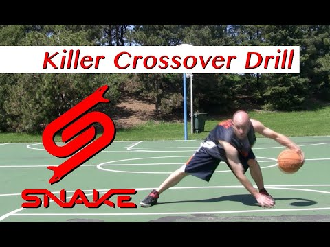Killer Crossover Drill Tutorial - How to do NBA Ankle Breaker Dribbling Moves   Snake