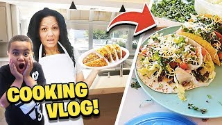 Our FIRST Time Cooking In The Mega Mansion Kitchen! 🌮😋 | MindofRez