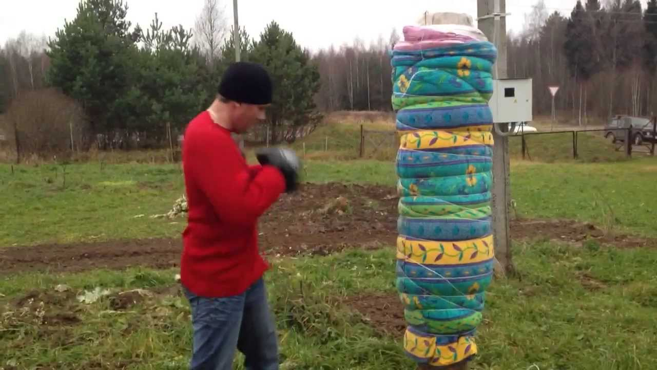 Как сделать грушу боксёрскую своими руками