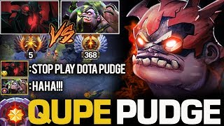 THE BEST PUDGE EVER!!! MASTER TIER QUPE PUDGE DESTROYED TOP 5 IMMORTAL RANK | Pudge Official