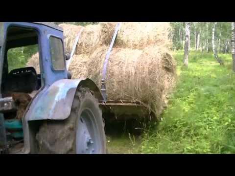 Т-40 и телега с рулонами