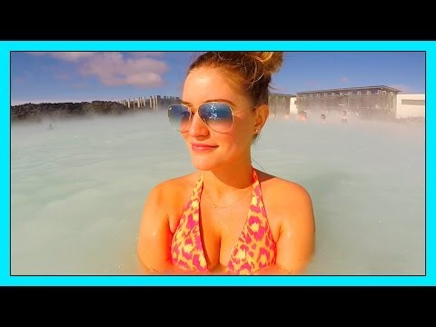 Hot Blue Lagoon Swimming! video
