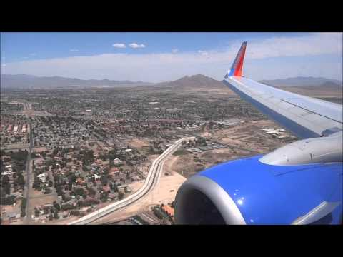 Amazing Landing in Las Vegas (LAS) Southwest Airlines B737-800