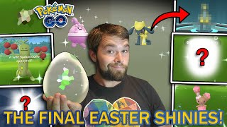 THIS EVENT WAS AMAZING! EVERY SHINY POKEMON OF THE EASTER EVENT ACQUIRED! (Pokemon GO)